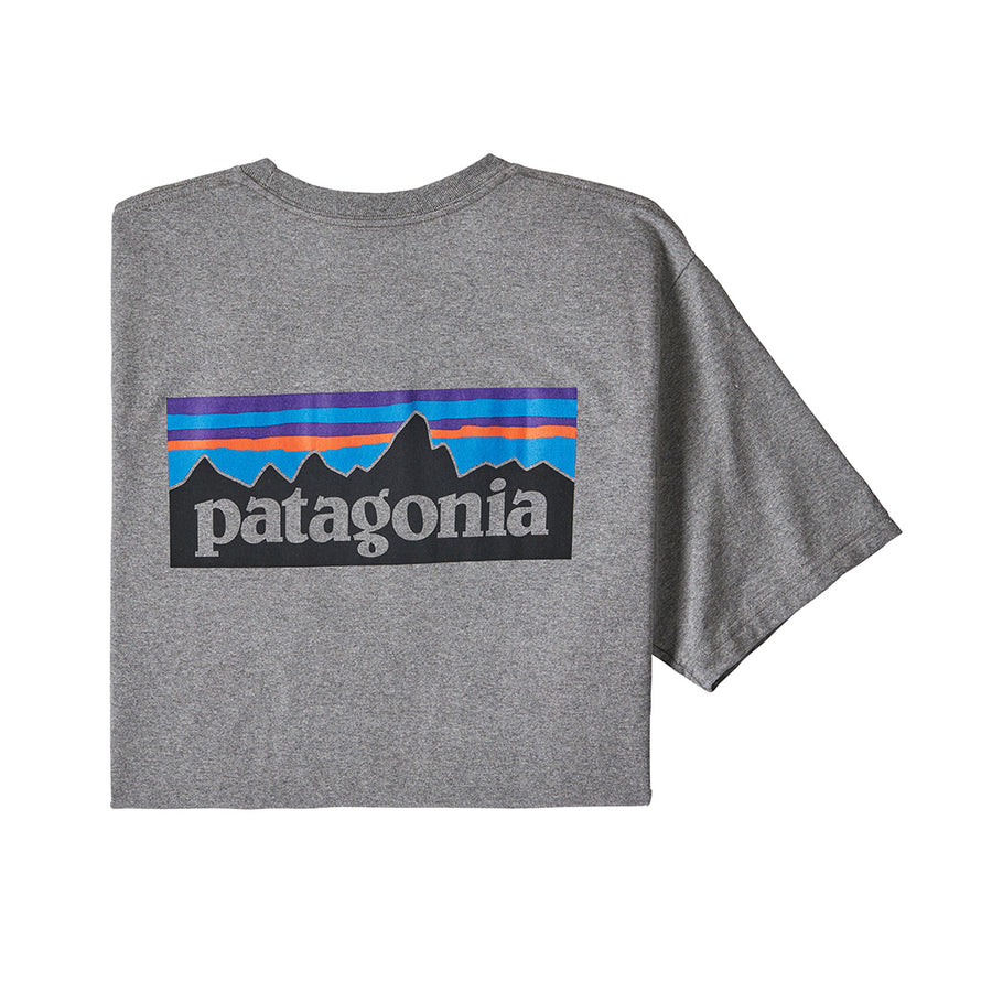 Patagonia Men's P-6 Logo Responsibili-Tee - Gravel Heather Hero