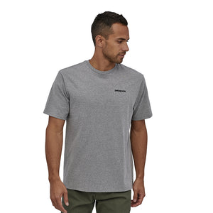 Patagonia Men's P-6 Logo Responsibili-Tee - Gravel Heather Model 1