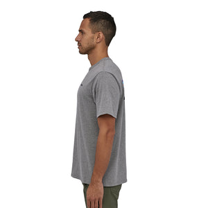 Patagonia Men's P-6 Logo Responsibili-Tee - Gravel Heather Model 3