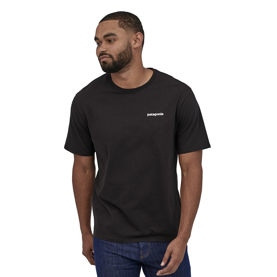 Patagonia Men's P-6 Logo Organic T-Shirt BLK - Model 1