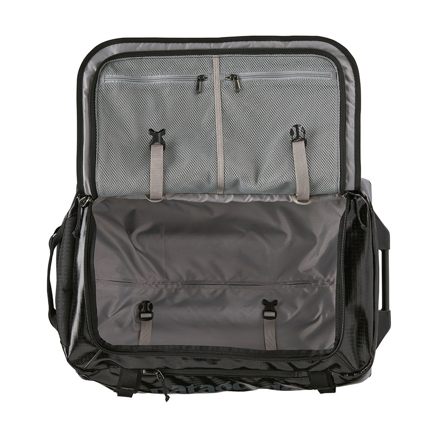 Patagonia Black Hole Wheeled Duffel - Black 40L Open