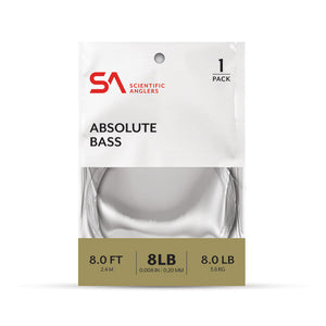 Scientific Anglers Absolute Bass 8' Tapered Leader - Single Pack