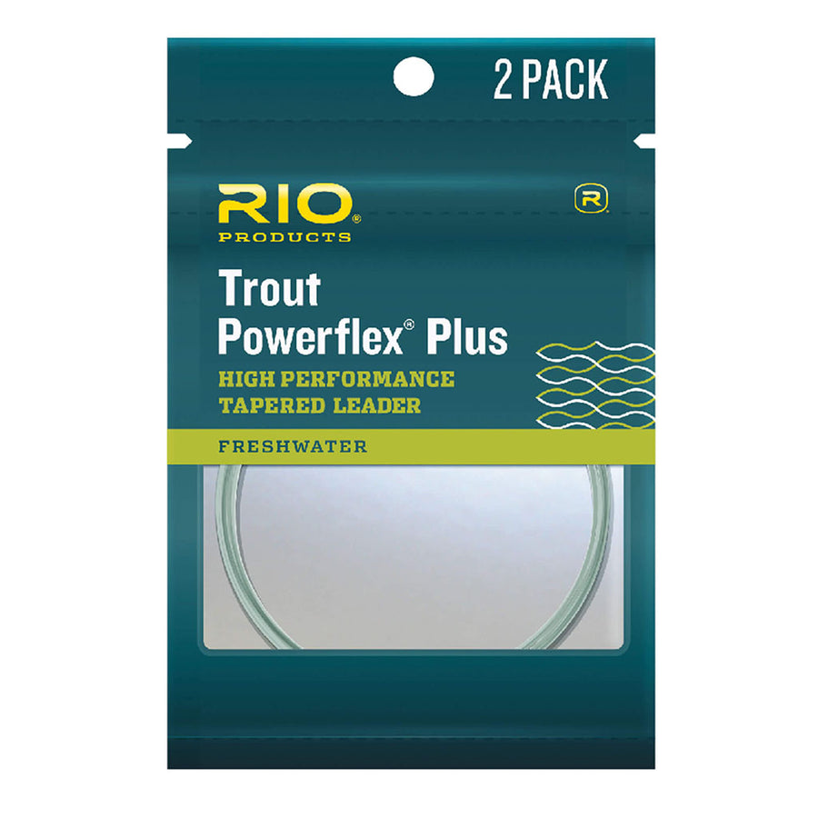 Rio Trout Powerflex Plus Tapered Leader 12ft 2 Pack