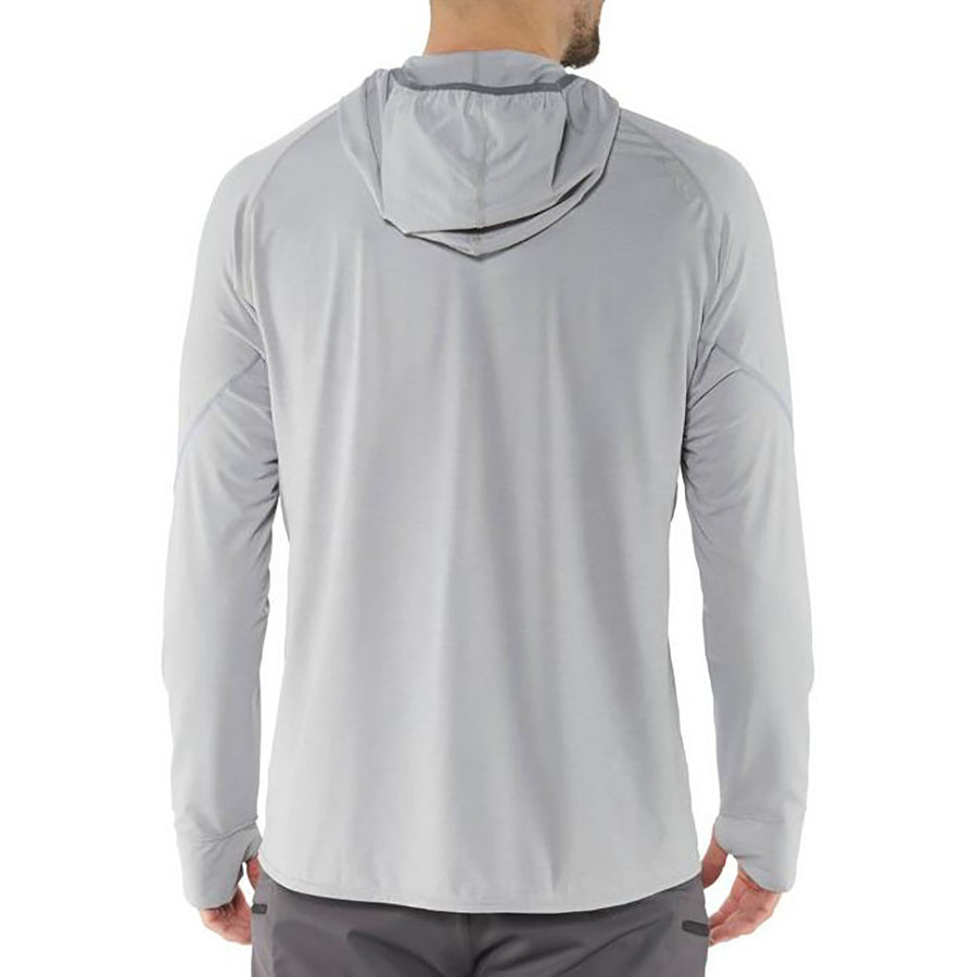 NRS Men's H2Core Silkweight Hoodie - quarry detail 5