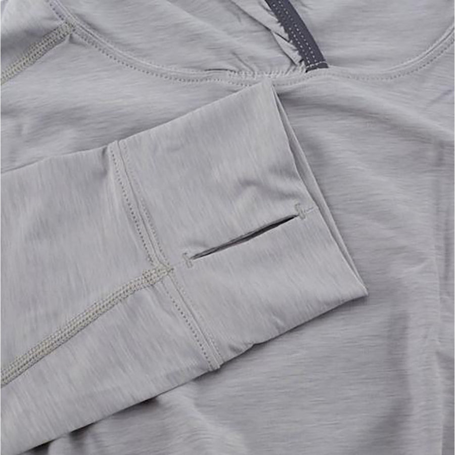 NRS Men's H2Core Silkweight Hoodie - quarry detail 6