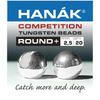 Hanak Competition Tungsten Beads / Round+ (20PCS)