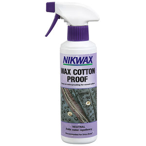 Nikwax Wax Cotton Proof spray-on waterproofing for Waxed Cotton - hero