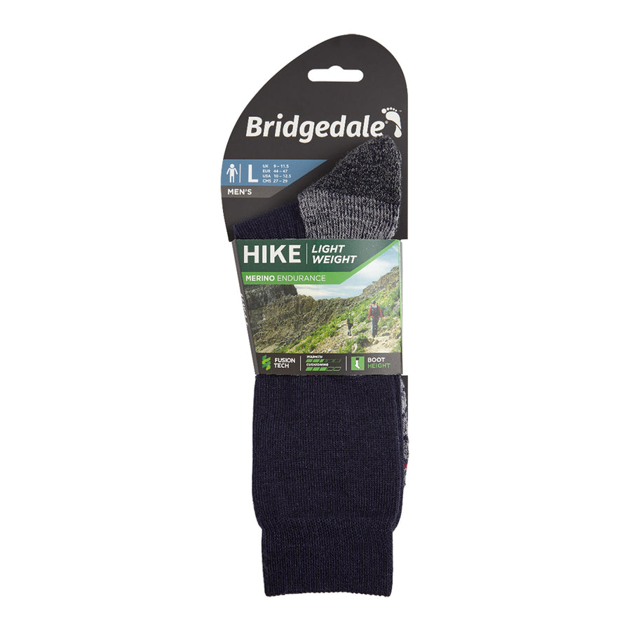 Bridgedale Men's Hike Lightweight Merino Performance Socks