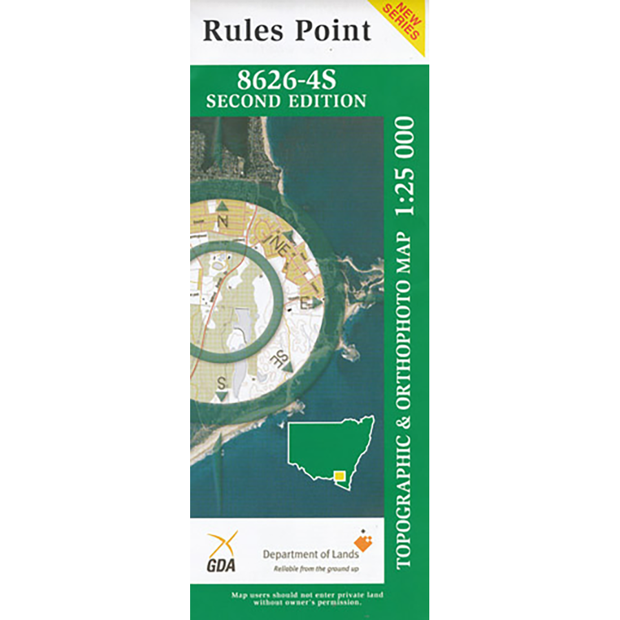 Rules Point 8626-4S 1:25K NSW Topographic Map
