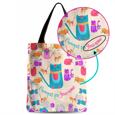 Customizable My Sweet Vivid Kitten Tote Bag
