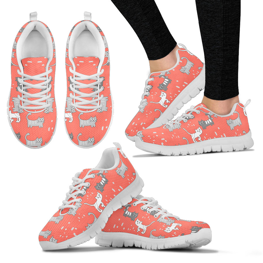Women's Cute Pastel Cat Sneakers