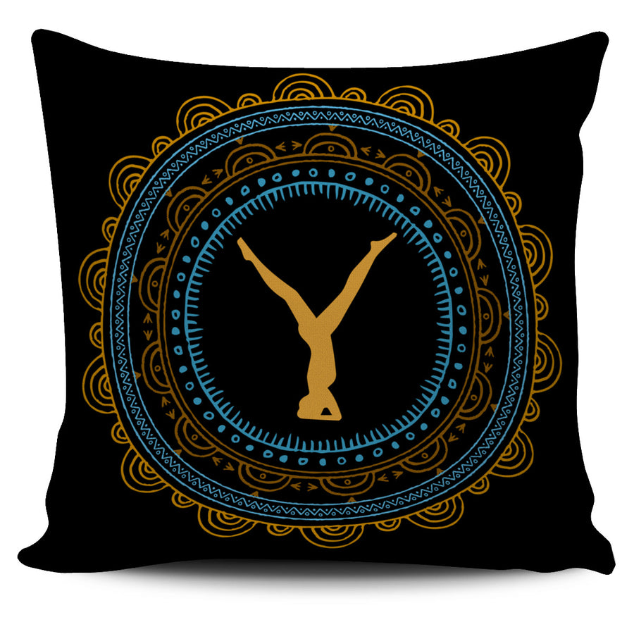Tribal Mandala Black YOGA Pillow Cover
