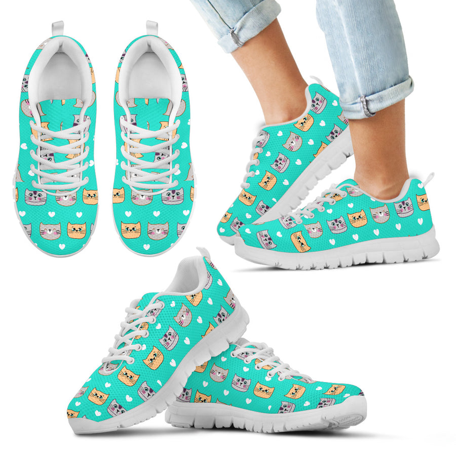 Funny Cats Pattern Kid's Sneakers