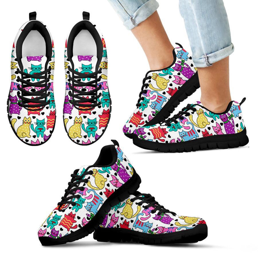 Kid's Vibrant Gorgeous Cat Sneakers