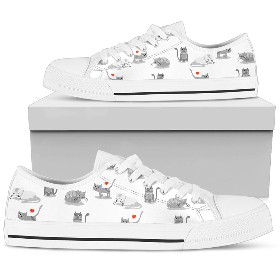 Loving Cats Low Tops Shoes