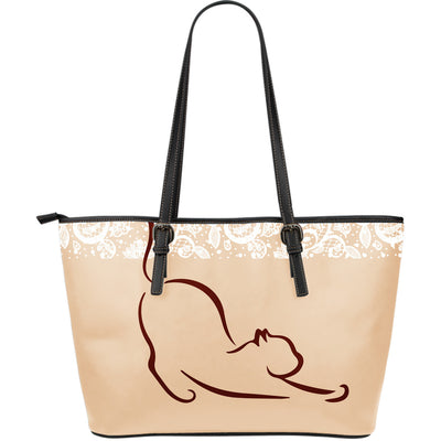 Lazy Cat Leather Large Tote Bag