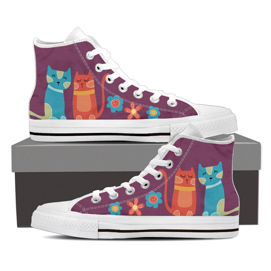 Woman's Mellow Cats Super Comfy High Tops