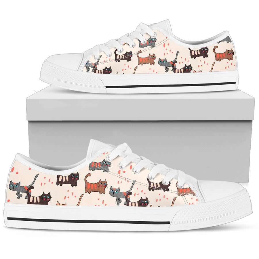 Pastel Cat Low Top Shoes