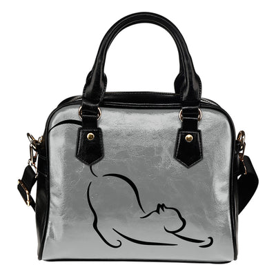 Lazy Cat Leather Shoulder Hand Bag