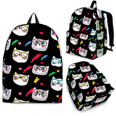 Funny cats faces Backpack
