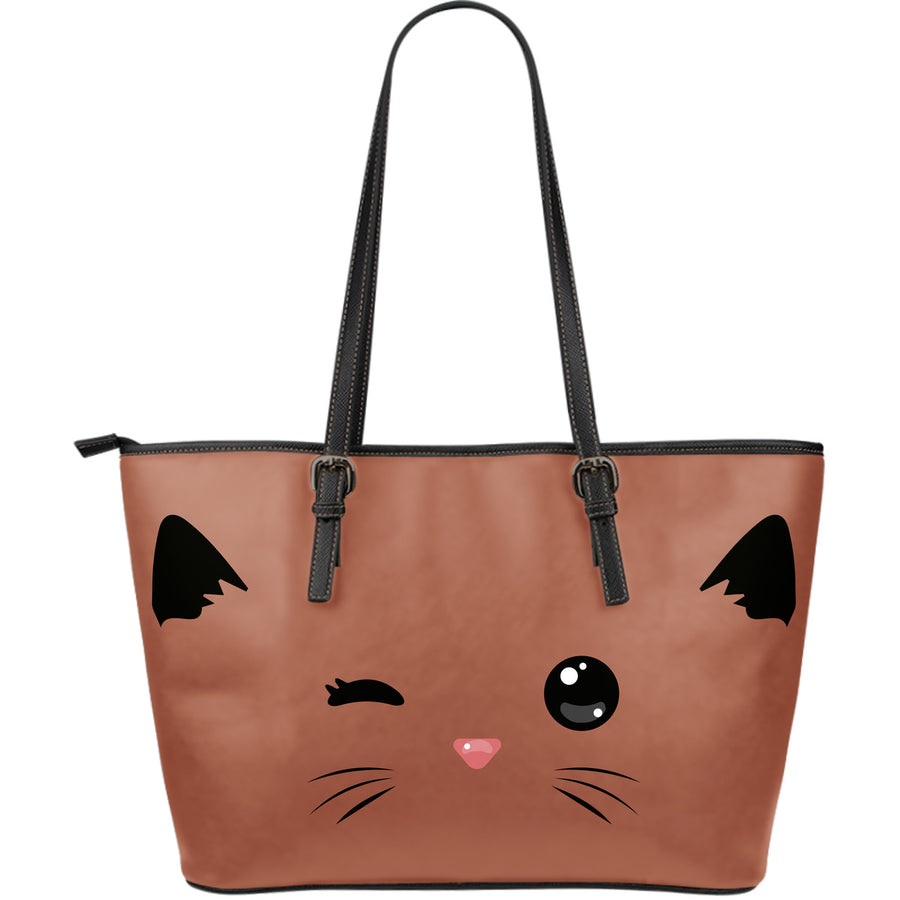 30%Off-Sneaky CAT Large Leather Tote Bag