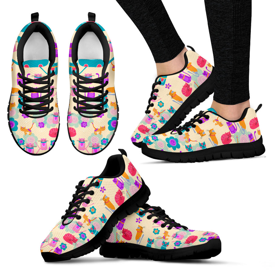 My Sweet Vivid Kitten Women's Sneakers