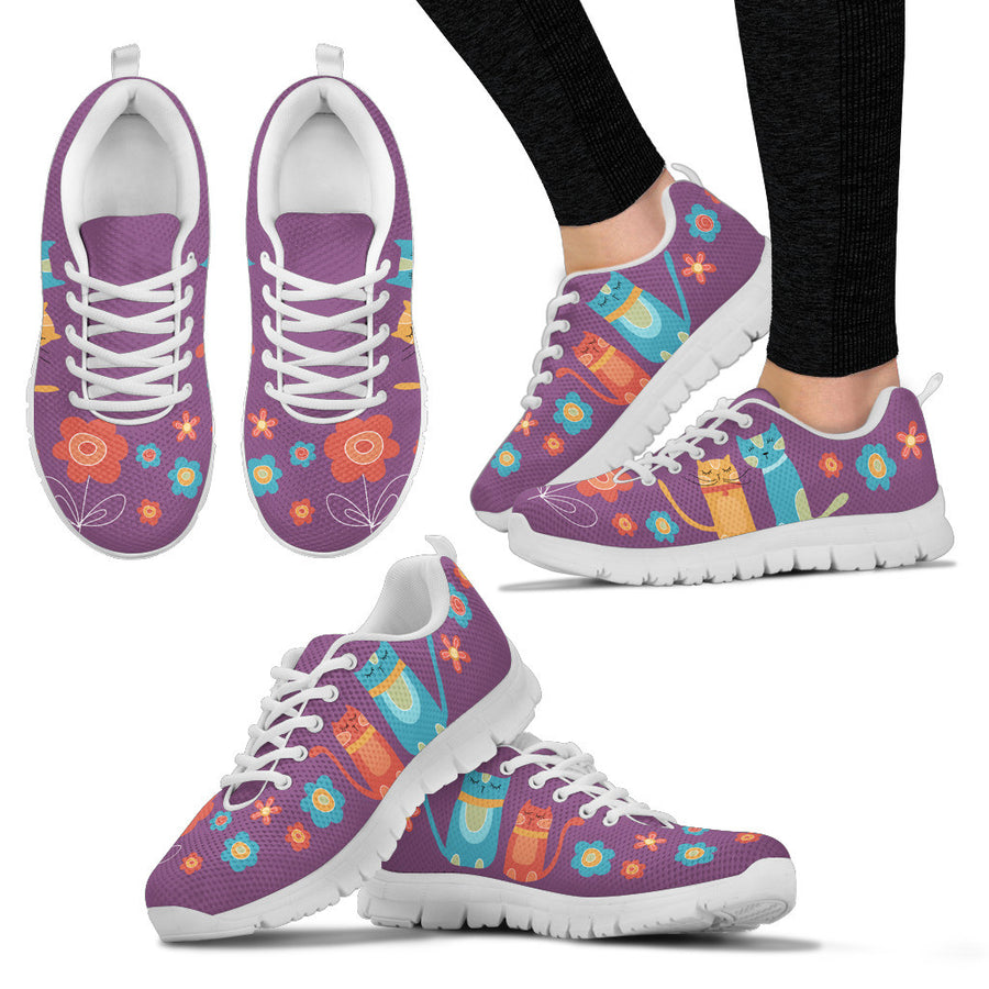 40% OFF - Woman's Mellow Cats Sneakers - Purple