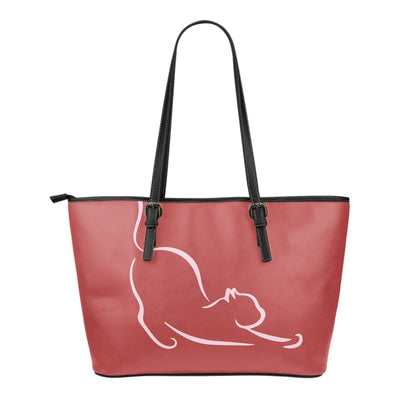Lazy Cat Leather Small Tote Bag
