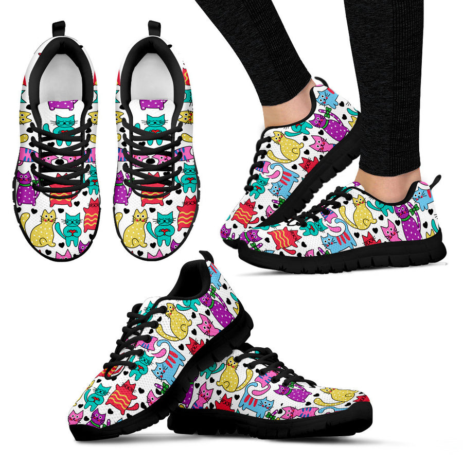 40% OFF - Womens's Vibrant Gorgeous Cat Sneakers - White