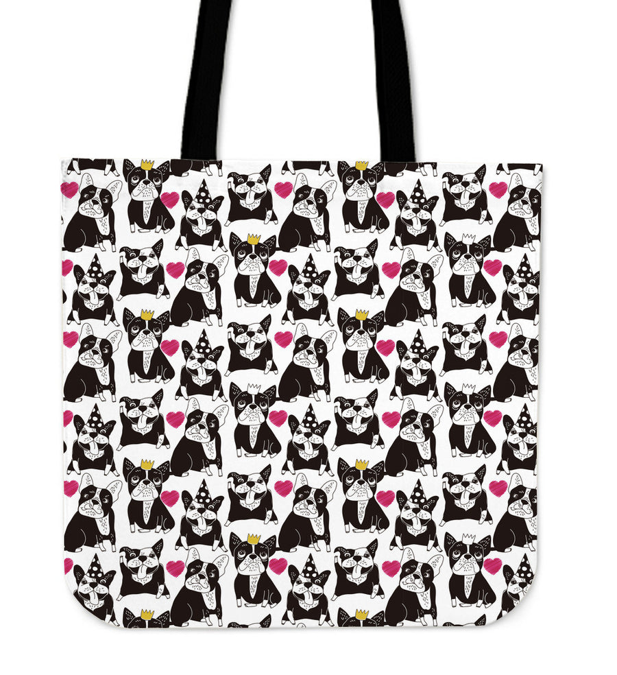 French Bulldog Happy Heart Tote Bag