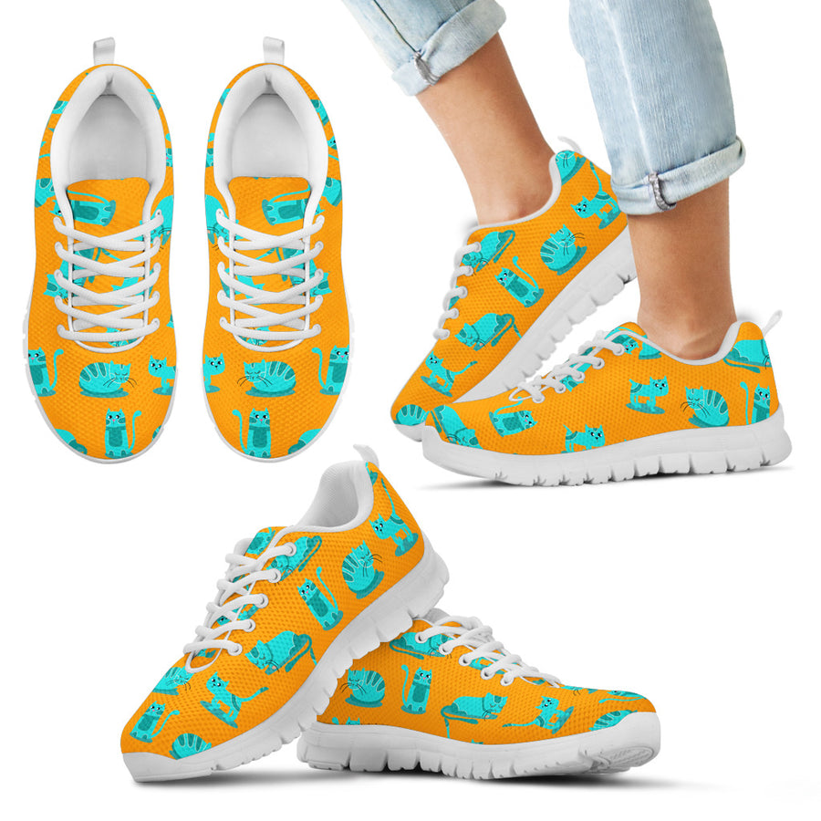 Psychedelic Cats Kid's Sneakers