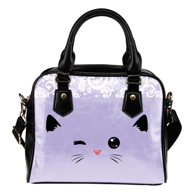 Sneaky CAT Small Leather Shoulder Hand Bag