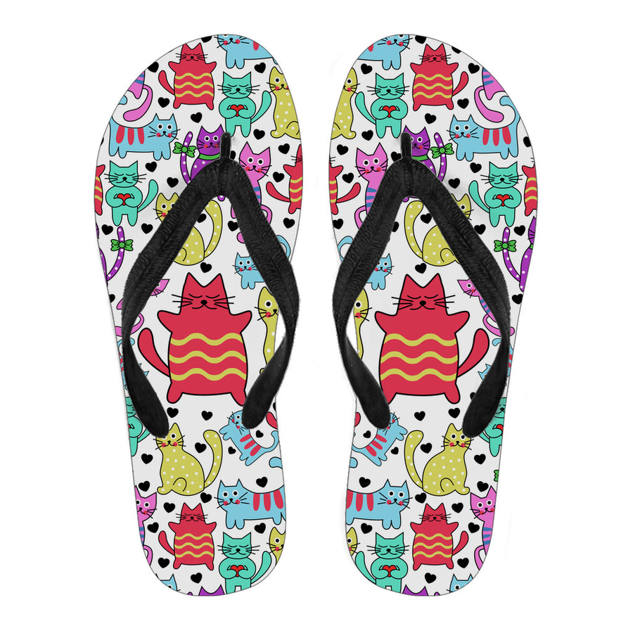 30%OFF-Womens's Vibrant Cute Cat Flip Flops