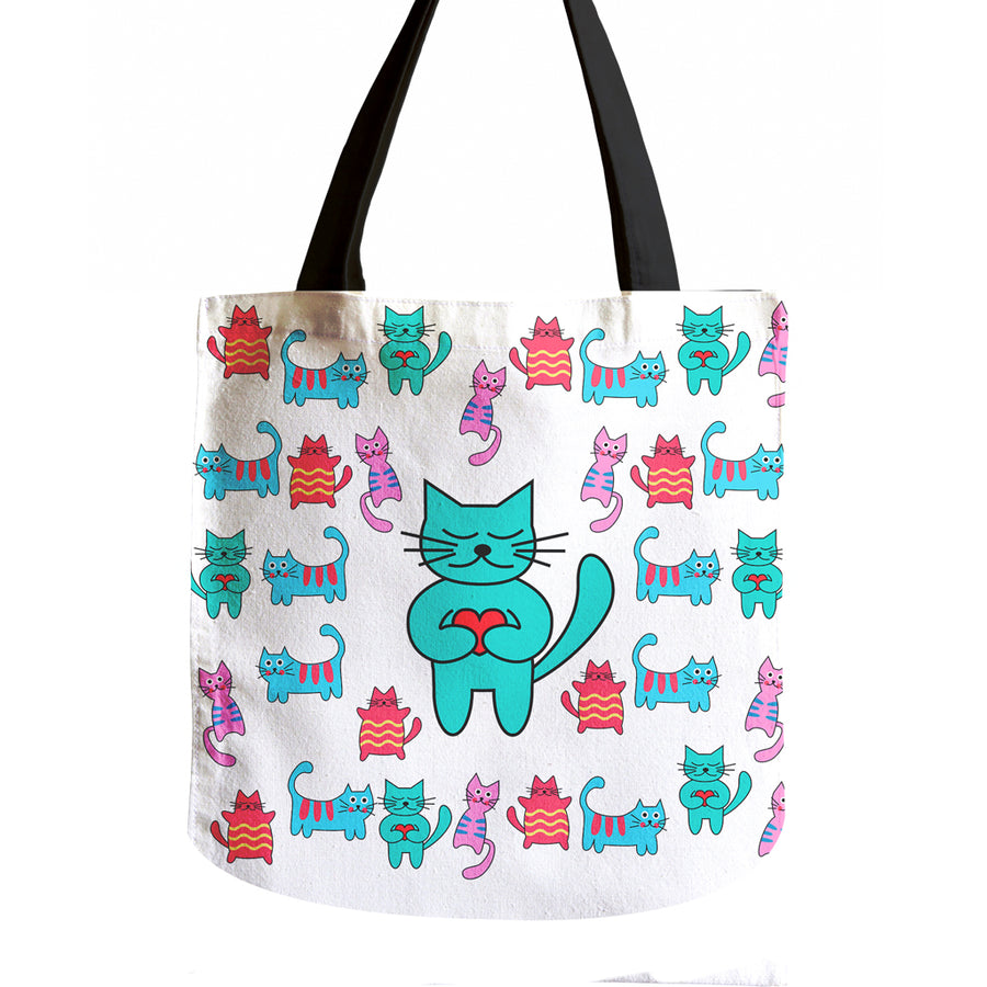 40%OFF - Lovely Vibrant Cat Tote Bag