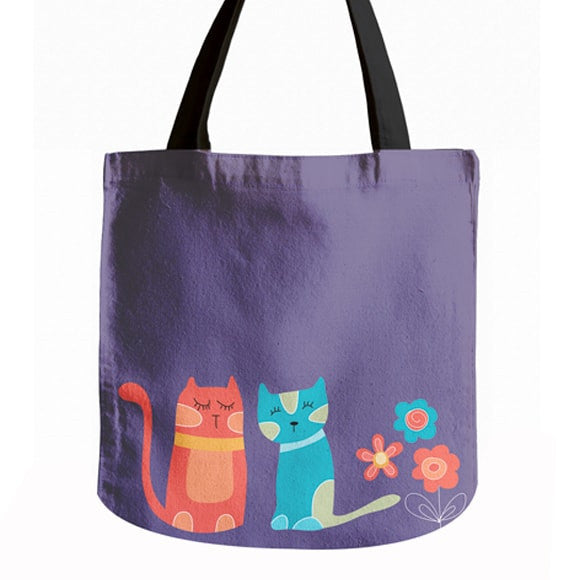 Vibrant Cat Tote Bag - Sale
