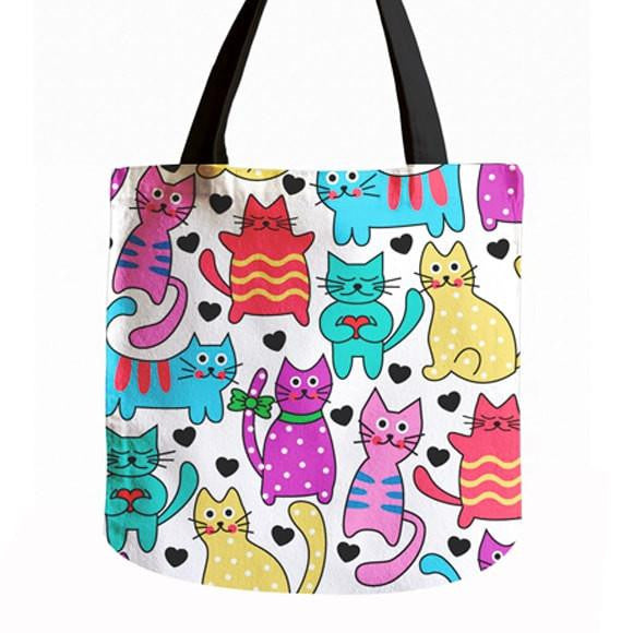 40%OFF - Vibrant Cat Tote Bag