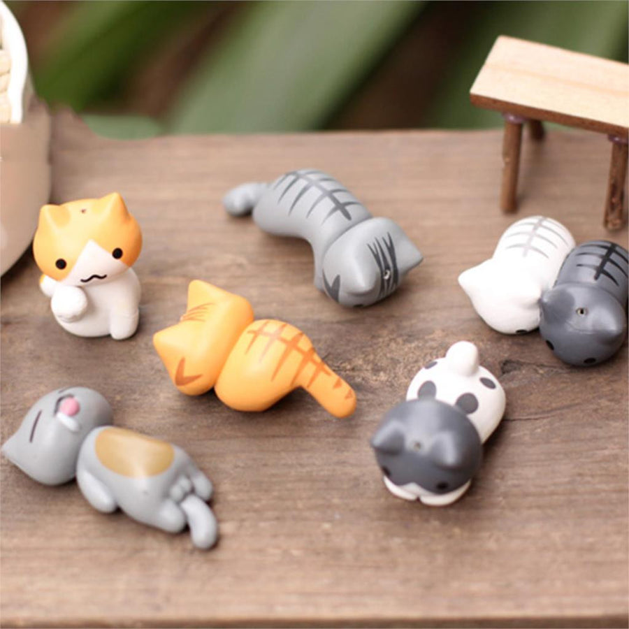 Sweet Cats Mini Sculpture  - 6 Pcs/Set