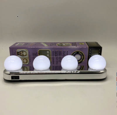 Portable Vanity Mirror Clear Natural Light Bulbs