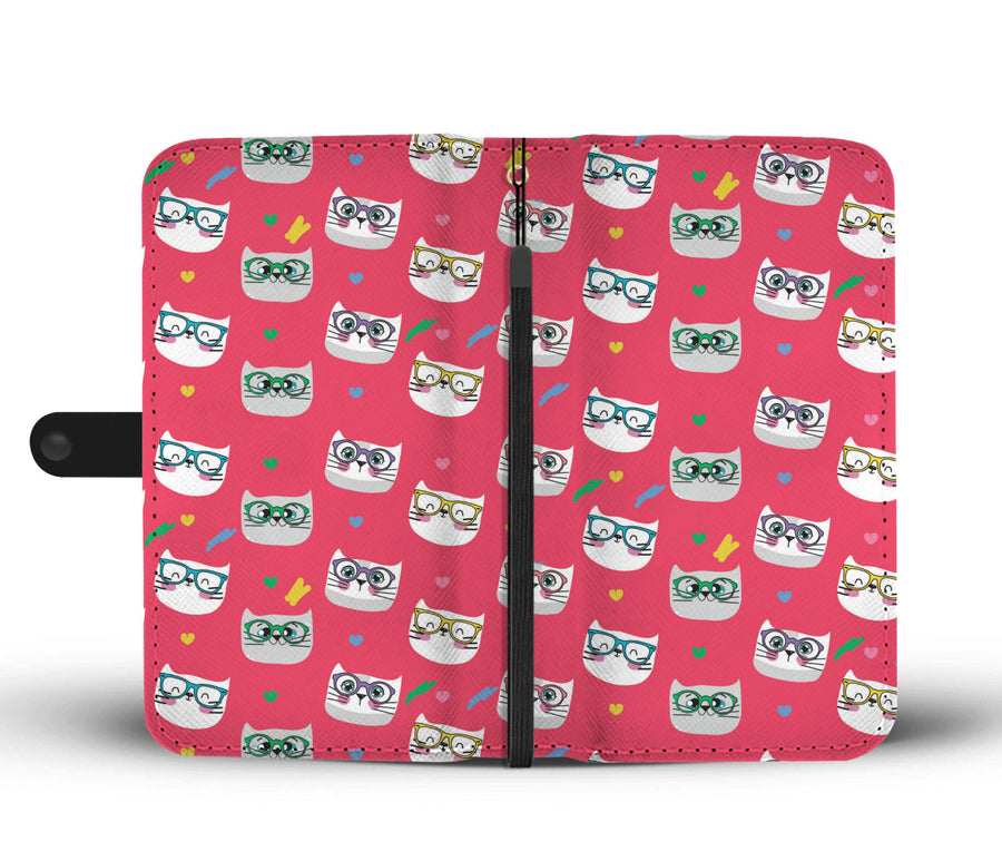 Smarty Pink Cats Wallet RFID Blocking Phone Case