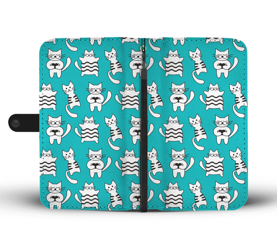 Mime Cats Wallet RFID Blocking Phone Case