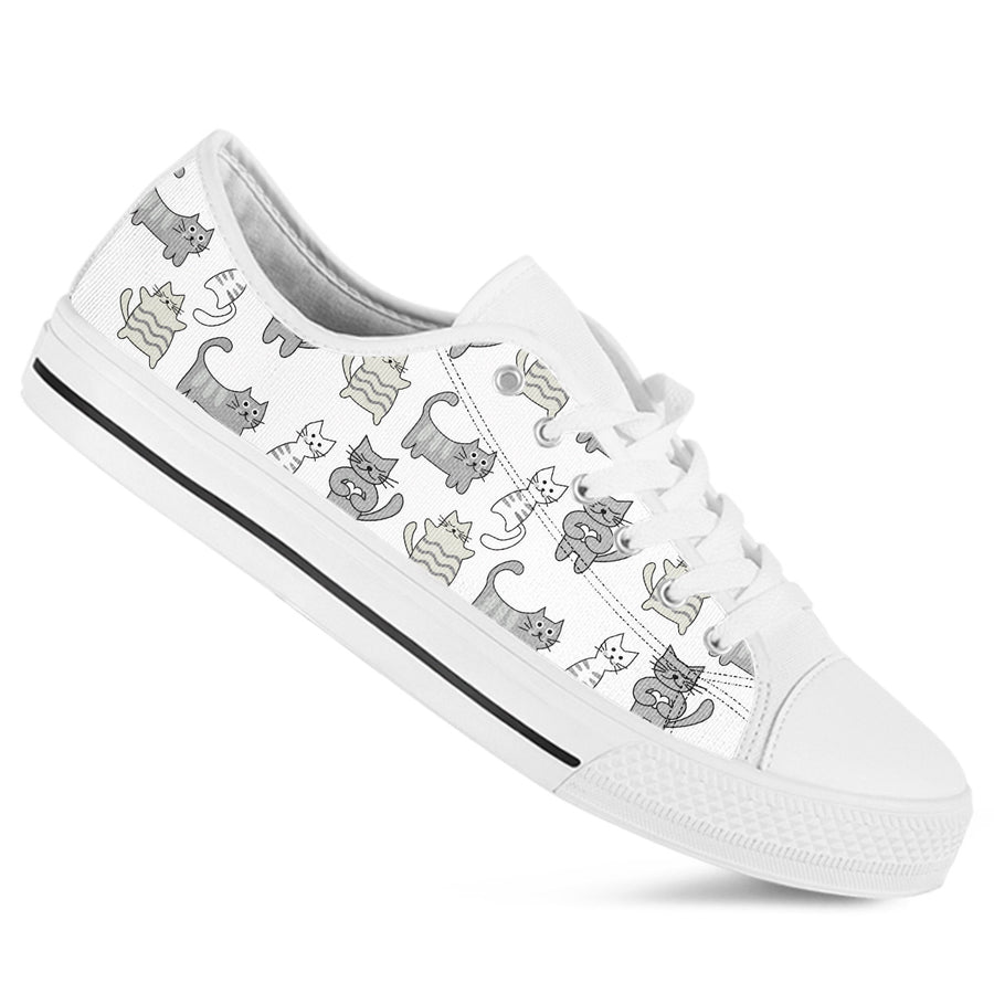 Lazy Kitty Low Top Shoes