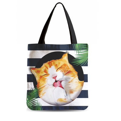 Wonderful Snuggly Cat Tote Bag - 5 Dollar Sale