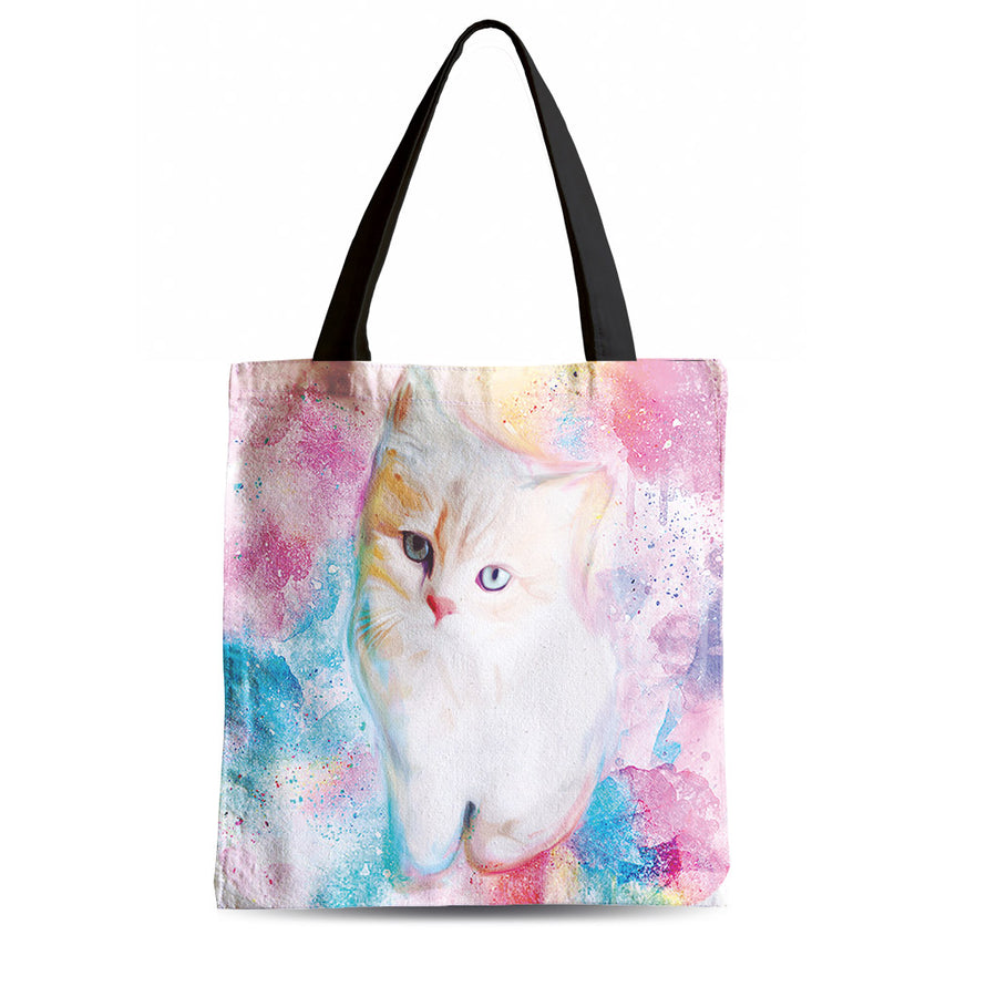 40%OFF-Aquarelle Cuddly Cat Tote Bag