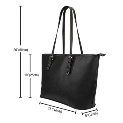 Curious Cat Leather Small Tote Bag