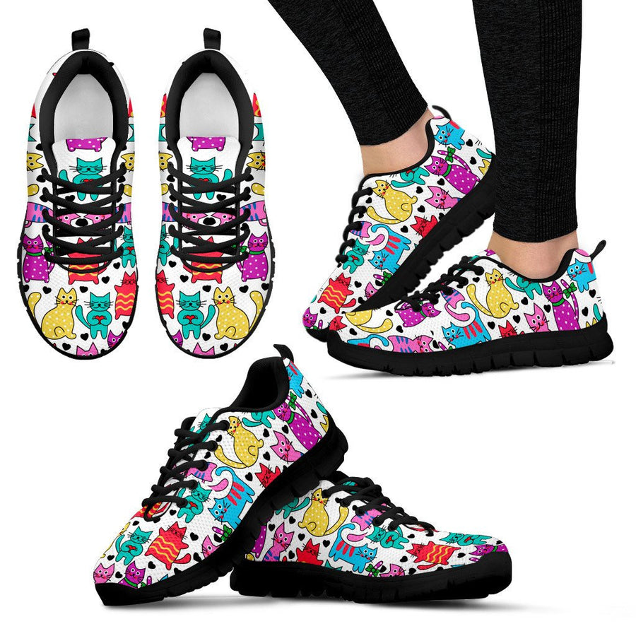 Womens's Vibrant Gorgeous Cat Sneakers