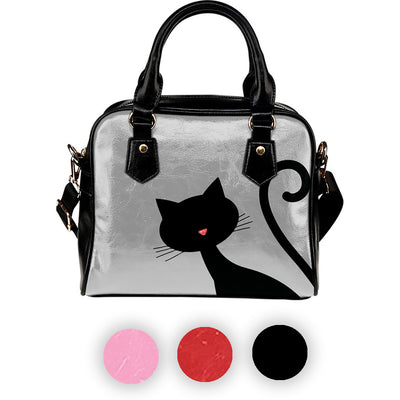 30%Off - Curious Cat Leather Shoulder Hand Bag