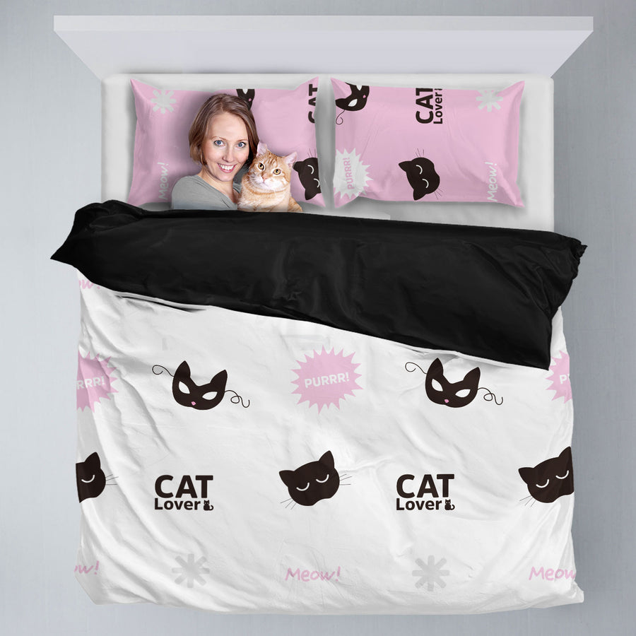 Cute CatLover Bedding Set