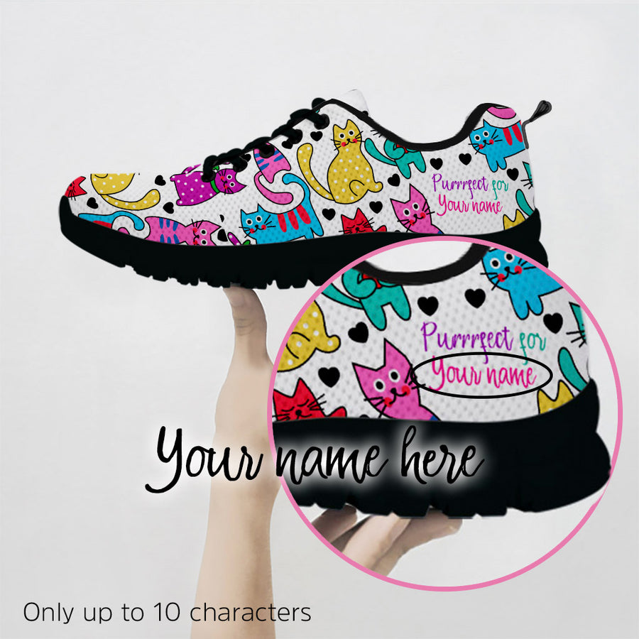 Customizable Womens's Vibrant Gorgeous Cat Sneakers