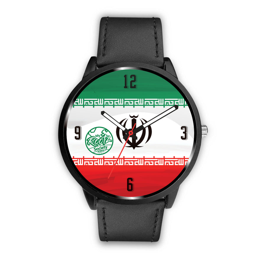 We are IRAN MyRootz Society Leather Watch