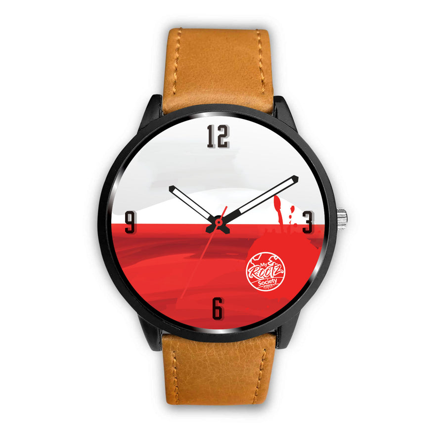 We are POLAND MyRootz Society Leather Watch